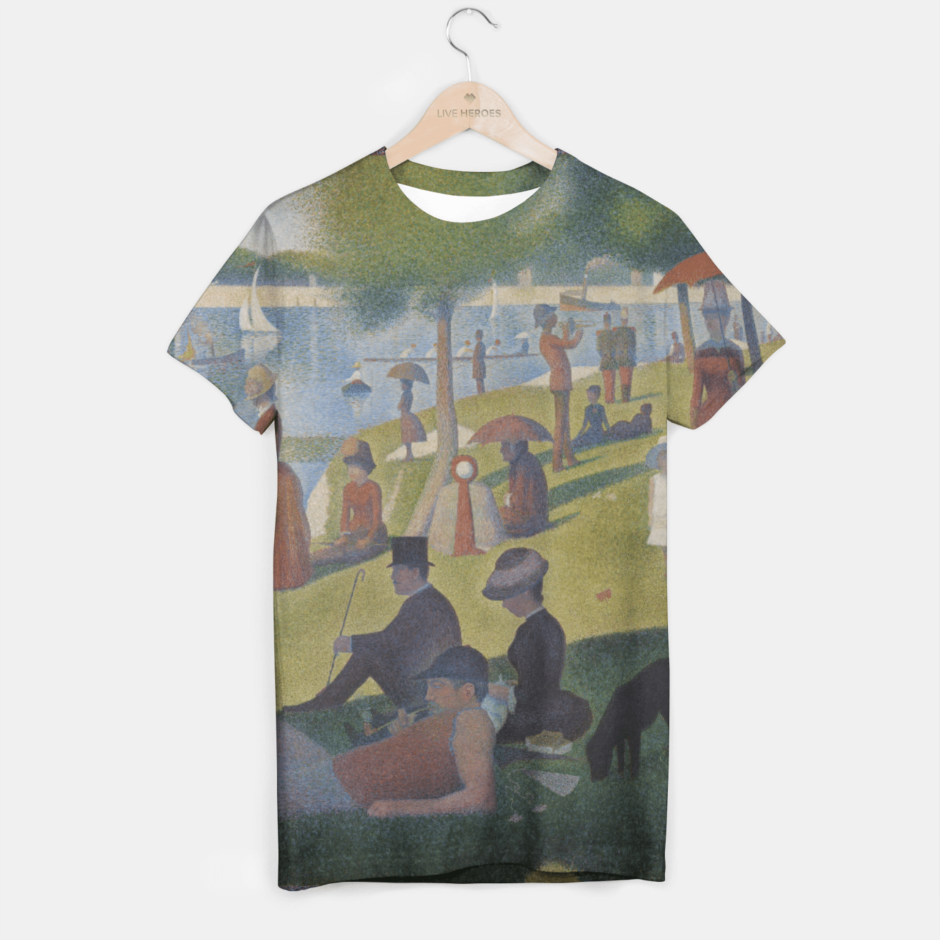 A SUNDAY AFTERNOON ON THE iSLAND OF LA GRANDE JATTE BY SEURAT T-shirt, Live Heroes