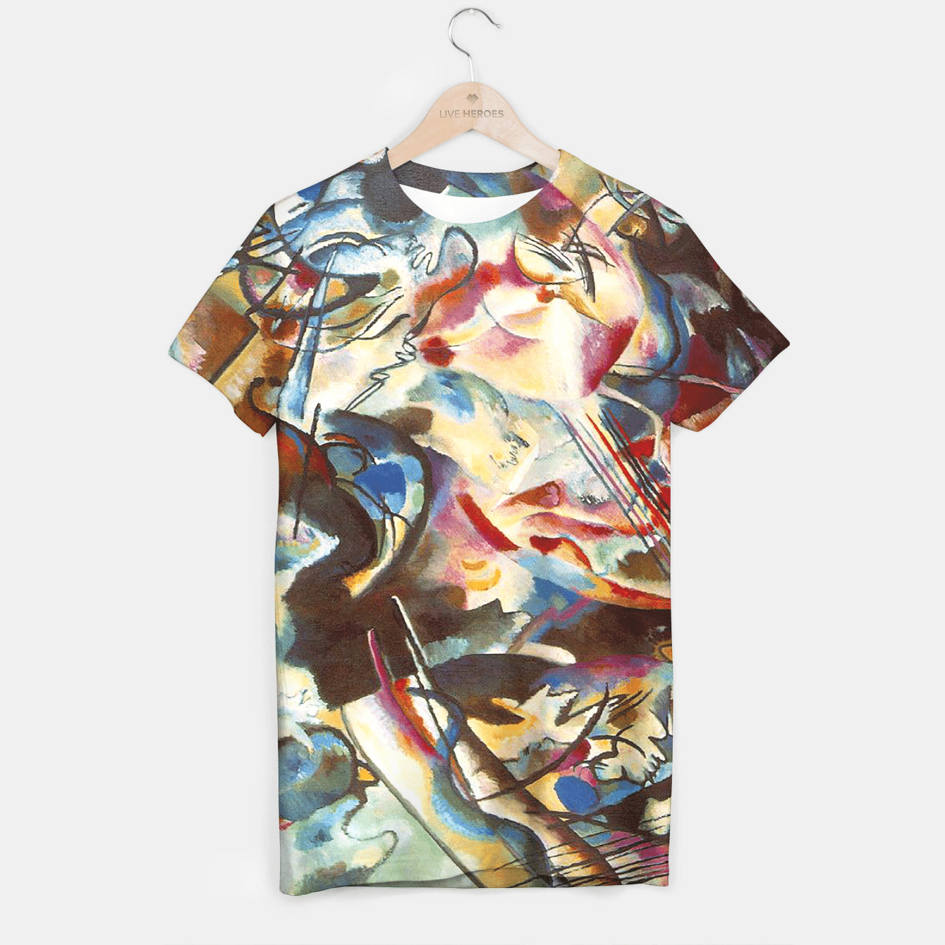 COMPOSiTiON SiX BY VASSiLY KANDiNKSY T-shirt, Live Heroes