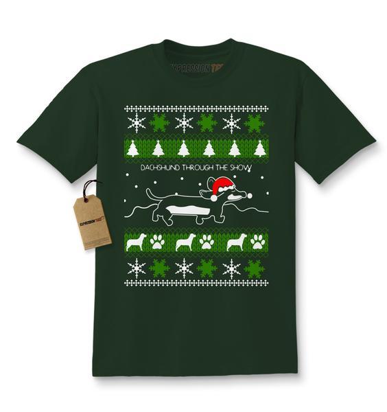 Dachshund Through The Snow Ugly Christmas Kids T-shirt