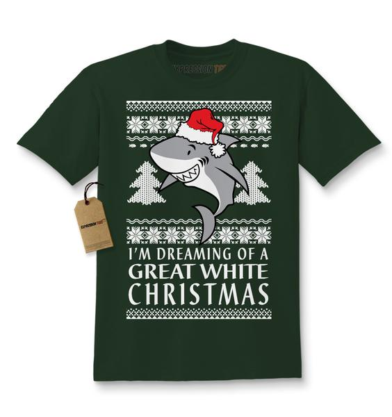 Dreaming Of A Great White Christmas Kids T-shirt