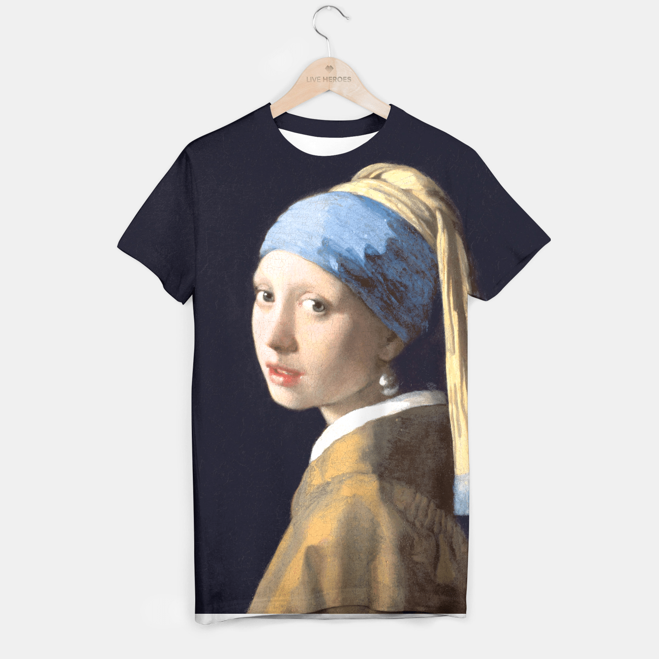 GiRL WiTH A PEARL EARRiNG BY JOHANNES VERMEER T-shirt, Live Heroes