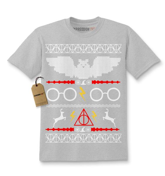 Hogwarts Ugly Christmas Holiday Kids T-shirt
