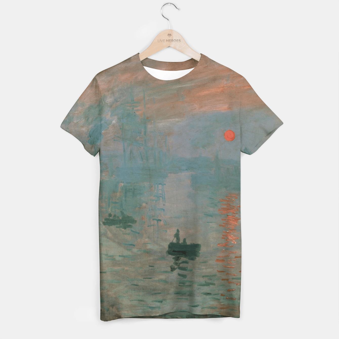 iMPRESSiON, SUNRiSE BY CLAUDE MONET T-shirt, Live Heroes