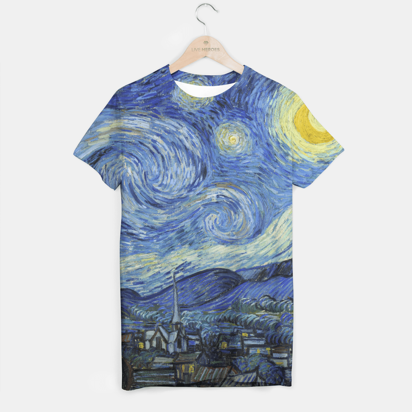STARRY NiGHT BY ViNCENT VAN GOGH T-shirt, Live Heroes