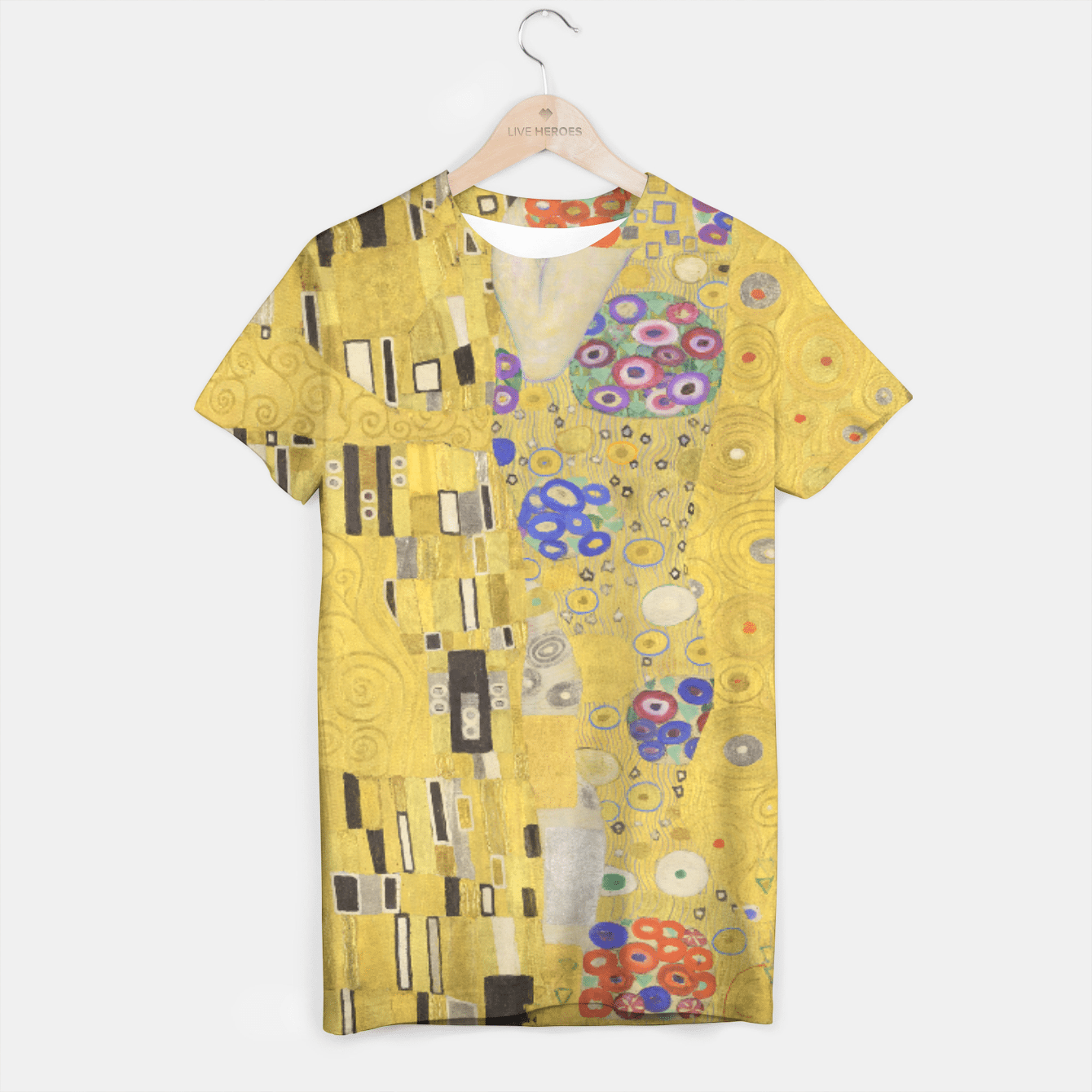 THE KiSS BY GUSTAV KLiMT T-shirt, Live Heroes