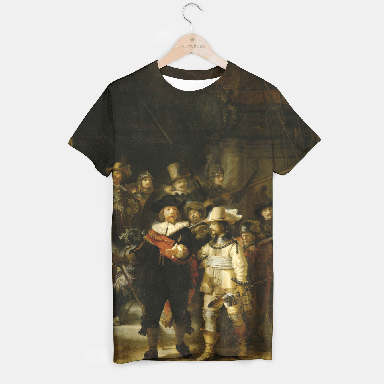 THE NiGHTWATCH BY REMBRANDT T-shirt, Live Heroes