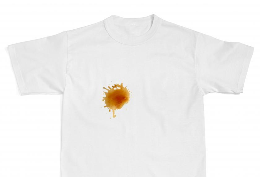 How to get any stain out of your favorite t shirt for How to get a coffee stain out of a shirt