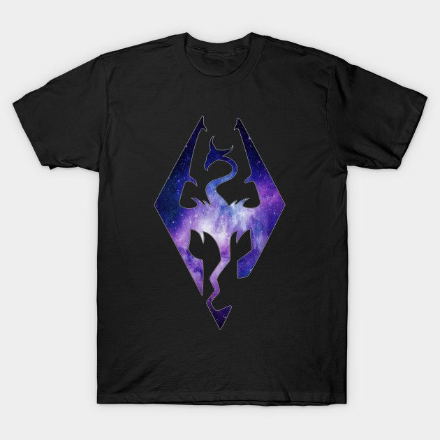 Blended Galaxy Seal of Akatosh T-Shirt