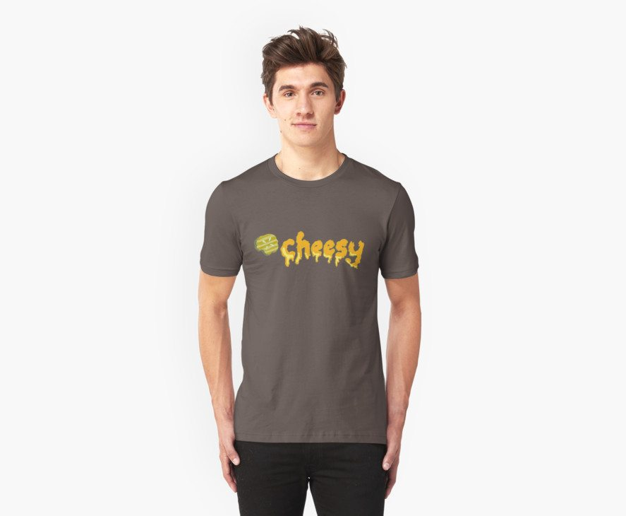 Cheesy Pickle Melted Typography Word Art