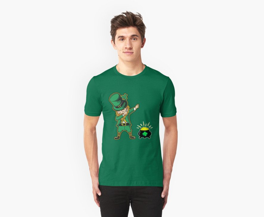 Dabechaun Funny Leprechaun Dabbing St Patrick 2017 Tee