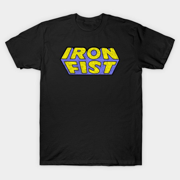 Iron Fist – Classic Title – Dirty T-Shirt