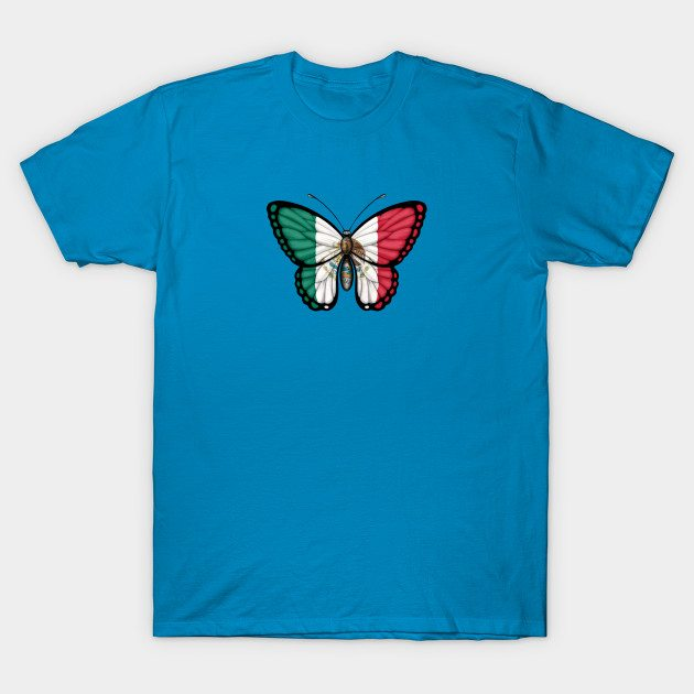 Mexican Flag Butterfly T-Shirt