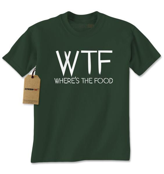 WTF Where's The Food Mens T-shirt