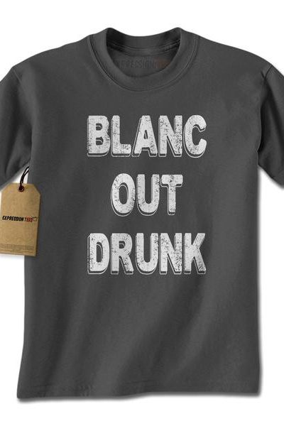 Blanc Out Drunk Sauvignon Mens T-shirt
