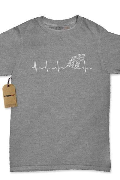 Dire Wolf Heartbeat Womens T-shirt