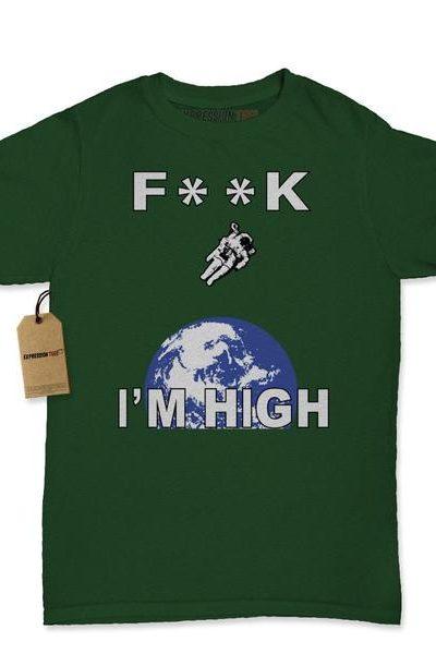 F**K I'm High Space Man Womens T-shirt