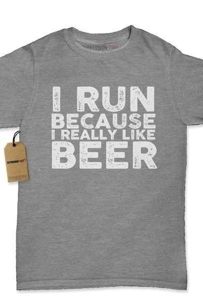 I Run Because I Like Beer Womens T-shirt