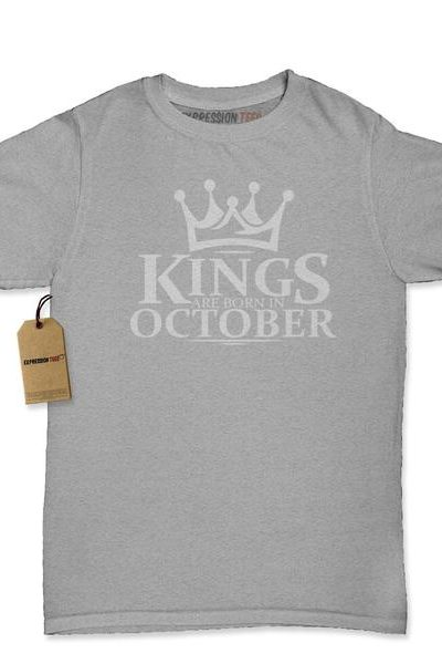 Kings Are Born In October Womens T-shirt
