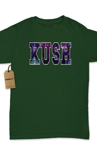 Kush Galaxy Print Womens T-shirt