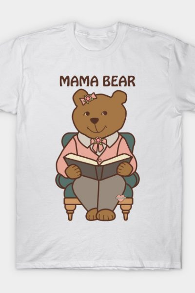 Mama Bear Reading T-Shirt