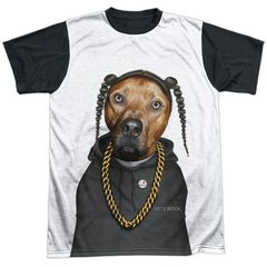 Pets Rock – Rap Black Back Sublimation T-Shirt
