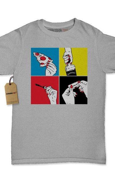 Pizza Jack Mascara Weed Womens T-shirt