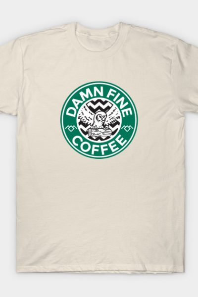 Twin Peaks Starbucks Parody Mashup T-Shirt