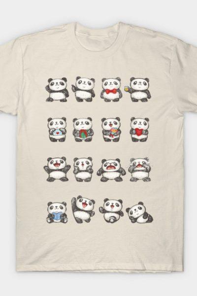 Various feeling of Panda T-Shirt