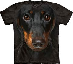 Dachshund Face By The Mountain T-Shirt | TeeShirtPalace