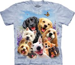 Dogs Selfie By The Mountain T-Shirt | TeeShirtPalace