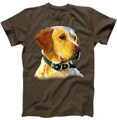 Golden Retriever Dog Portrait T-Shirt | TeeShirtPalace