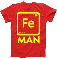 Iron Science Funny Chemistry Fe Periodic Table  T-Shirt