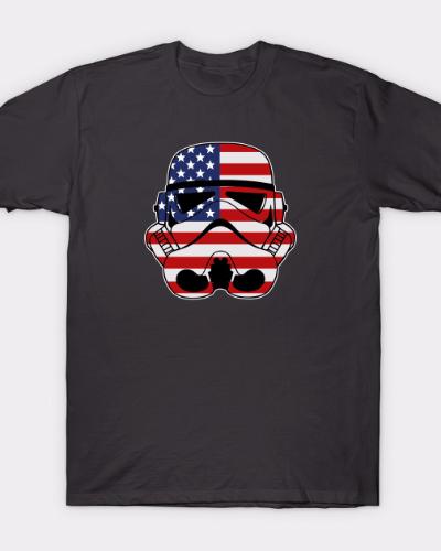 Stromtrooper US Flag Star Wars T-Shirt