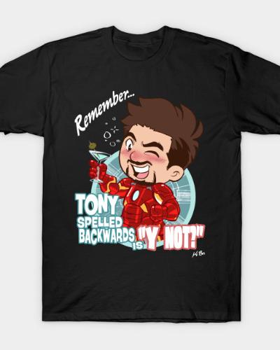 Tony Spelled Backwards is