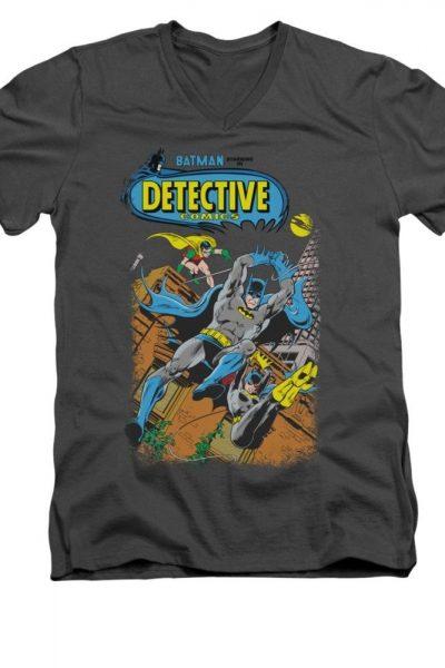 Batman – Detective #487 Comic Cover Adult V-Neck T-Shirt