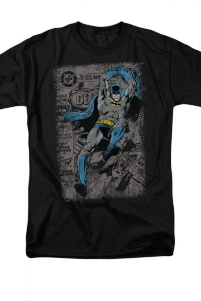 Batman – Detective #487 Distress Comic Cover Adult Regular Fit T-Shirt