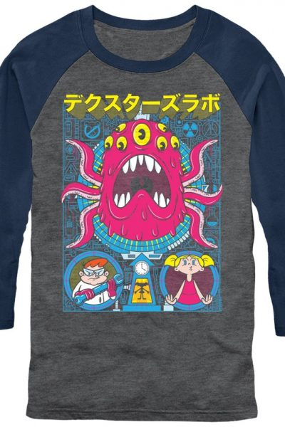 Dexter's Lab – Tentacles Poster Chogrin Adult Baseball T-Shirt