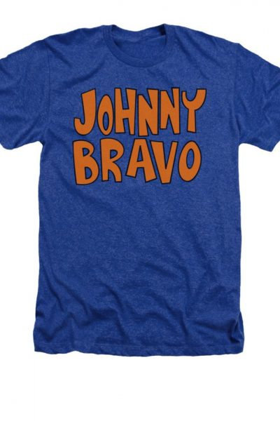 Johnny Bravo – Jb Logo Adult Regular Fit Heather T-Shirt