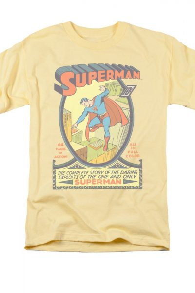 Superman – Comic Cover #1 Adult Regular Fit T-Shirt