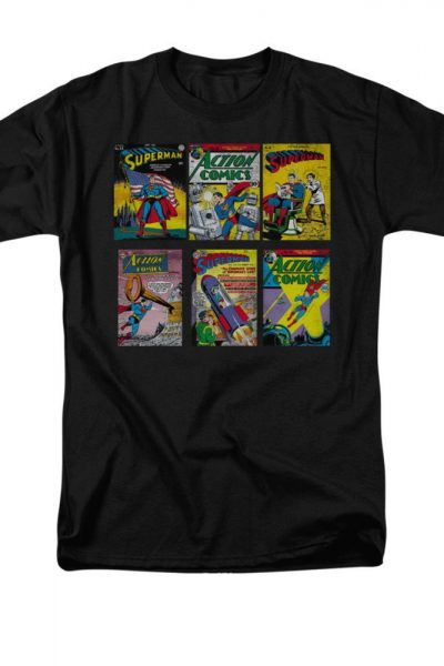 Superman – Comic Covers Adult Regular Fit T-Shirt
