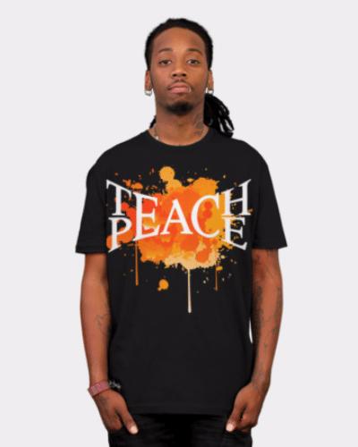 Teach Peace Splats T Shirt By Trashscan Design By Humans
