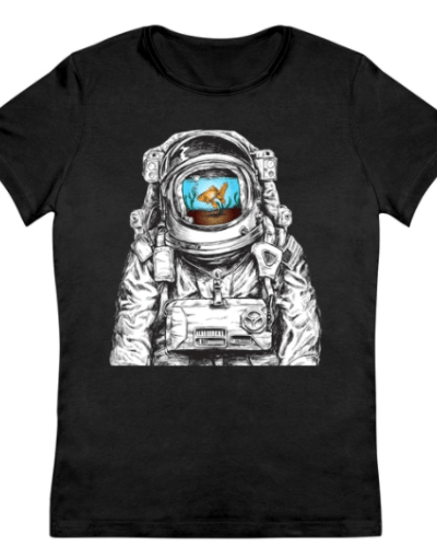 Astronaut With Goldfish Women's T-Shirt