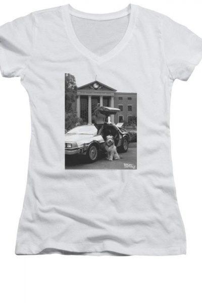 Back To The Future II – Einstein Junior V-Neck T-Shirt