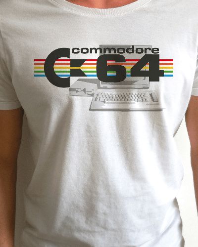 Commodore 64 Retro Fan Design T-Shirt