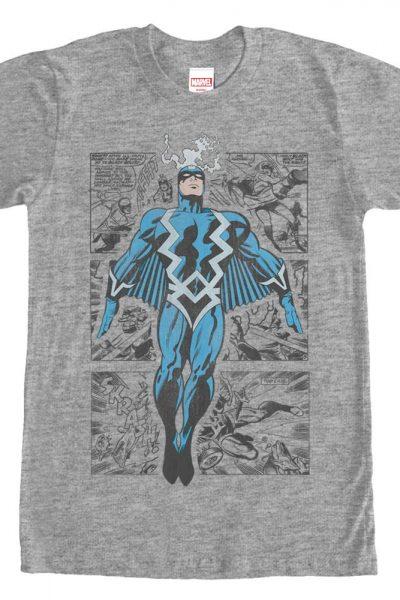 Marvel – Blackbolt Three Panel Adult Regular Fit T-Shirt