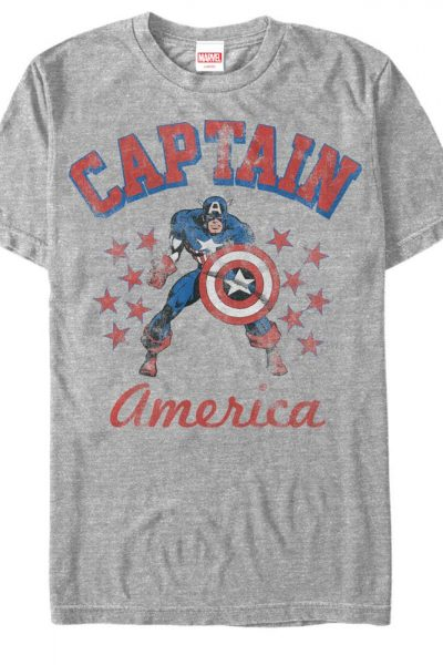 Marvel – The Old Captain Adult Regular Fit T-Shirt