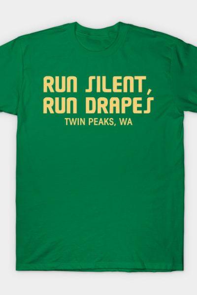 Run Silent, Run Drapes (vertical) T-Shirt