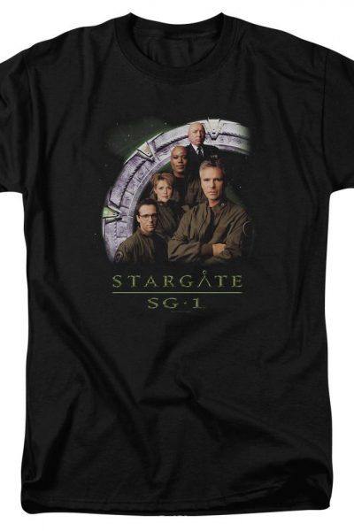 Sg1 Cast Stacked Adult Regular Fit T-Shirt