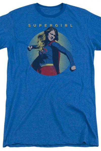 Supergirl – Classic Hero Adult Ringer T- Shirt