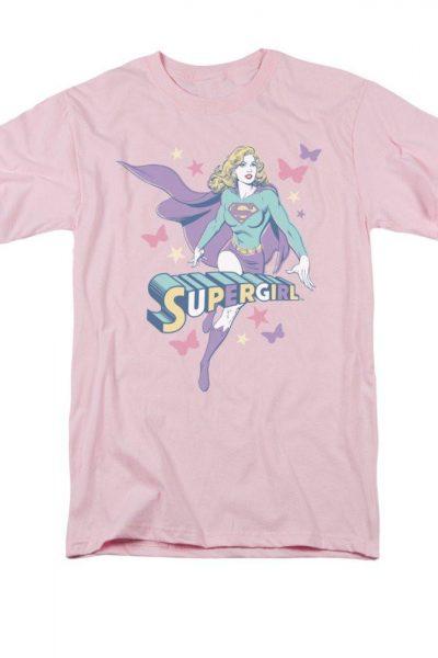 Supergirl Pastels Adult Regular Fit T-Shirt